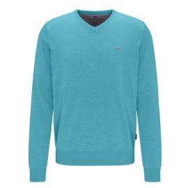 Fynch-Hatton V Neck Superfine Cotton Sweater