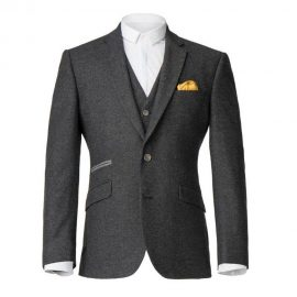 3 Piece Charcoal Grey Suit