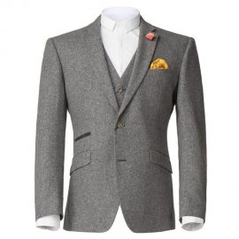 3 Piece Grey Tweed Suit
