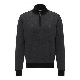Fynch Hatton half zip two tone (charcoal)