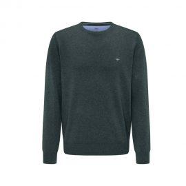 Fynch Hatton superfine 3 ply cotton sweater (emerald green)