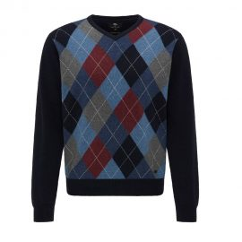 Fynch Hatton V Neck Argyle sweater