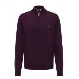 Fynch Hatton wool half zip sweater