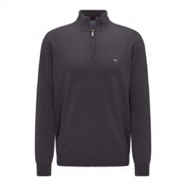 Fynch Hatton charcoal half zip supersoft cotton