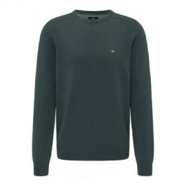 Fynch Hatton round neck supersoft cotton sweater (emerald green)