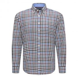 Fynch Hatton cotton checkered shirt