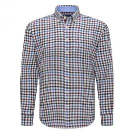 Fynch Hatton cotton checkered shirt