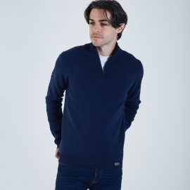 Colin half zip eclipse blue melange