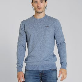 Dale round neck blue sweater