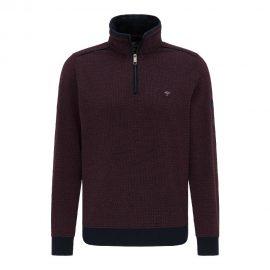 Fynch Hatton two tone half zip sweatshirt