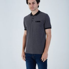 Diesel Heller black polo top
