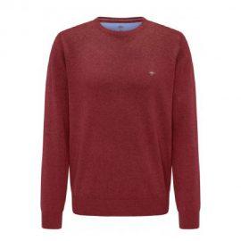 Fynch Hatton superfine 3 ply cotton sweater (scarlet)