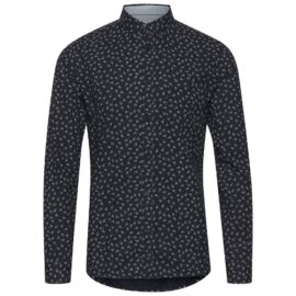 Solid black print shirt