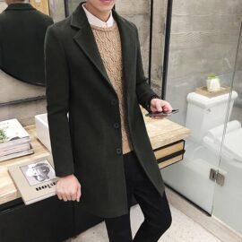 Tailored Originals Magni coat dark green