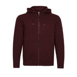 Solid wine organic cotton hoodie