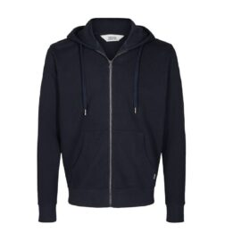 Solid navy organic cotton hoodie