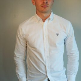 Walker and Hunt white oxford shirt