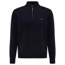 Half zip two tone Navy Fynch Hatton sweater