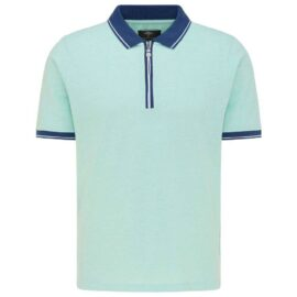 Polo top with zip Fynch hatton (peppermint)
