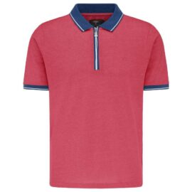 Polo top with zip Fynch hatton (hibiscus)
