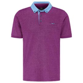 Polo top with contrast collar Fynch Hatton (thistle)