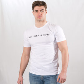 White classic tee Walker and Hunt