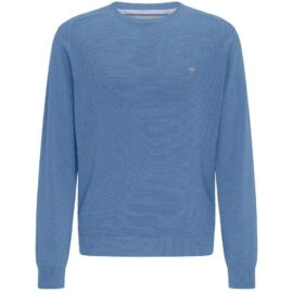 round neck sweater Fynch Hatton – structured knit – sailor blue