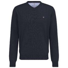 V Neck Navy Fynch Hatton sweater