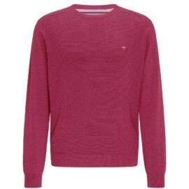 round neck sweater Fynch Hatton – structured knit – mauve