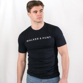 Navy classic tee Walker and Hunt