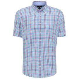 Short sleeve combi check shirt Fynch Hatton