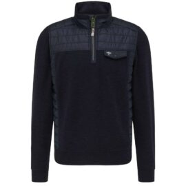 Casual fit troyer style sweater