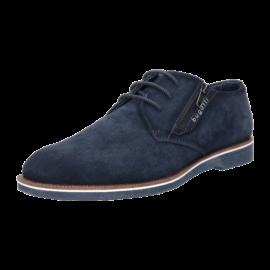 Navy suede Bugatti shoe