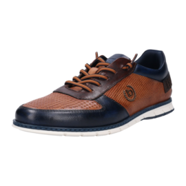 Navy and brown leather Bugatti shoe