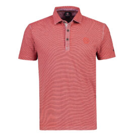 Red polo top by Lerros