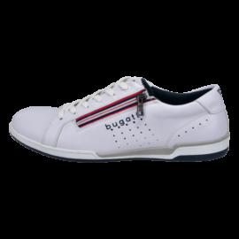 White leather trainer by Bugatti
