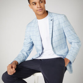 Slim fit checked jacket by Remus Uomo